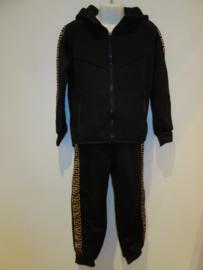 Pak zwart/geel broek + vest
