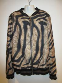 Blouson jasje taupe/zwart