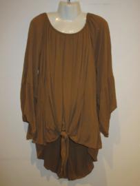 Knoop blouse bruin