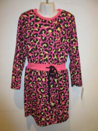 Panter jurk roze
