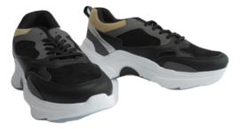 Sneaker  zwart/grijs/taupe 9915