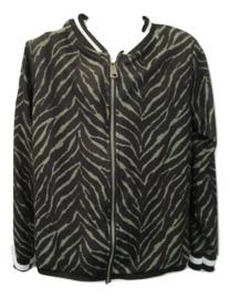Bomber jasje zwart/groen