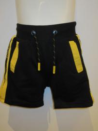 Short zwart jogging bies geel