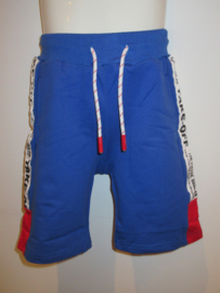 Short blauw jogging bies wit