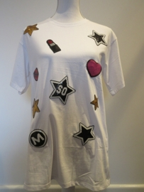 Shirt wit Lipstick/Ster