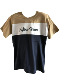 Shirt blauw/beige Future van Kids Up