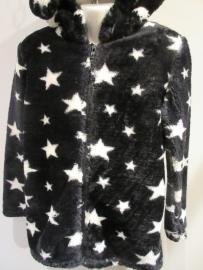 Fleece vest zwart met sterren