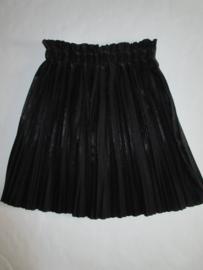 Rok plisse zwart glimmend