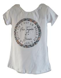 Shirt wit c'est la vie