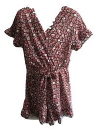 Jumpsuit print roze/paars
