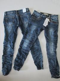 Jeans met glitterrandje Fanny look