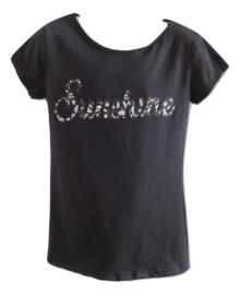 Shirt zwart sunshine