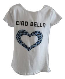Shirt wit met blauw ciau bella