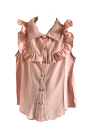 Blouse roze mouwloos