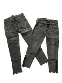 Jeans G66 donker grijs met ritsje onder