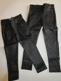 Gecoate broek zwart stretch