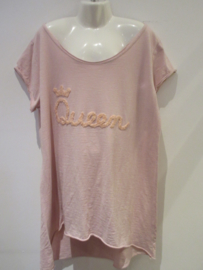 Shirt roze Queen