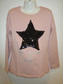 Longsleeve roze ster van Zero