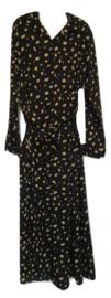 Overslag jurk zwart/camel