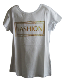 Shirt wit fashion goud