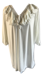 Blouse creme v-hals roessel