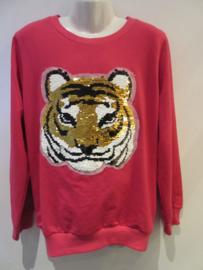 Sweater tijger roze
