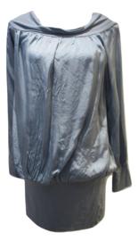 Blouson blauw satin met brede band