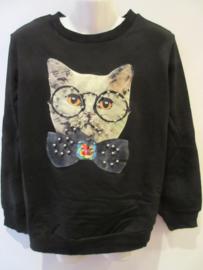 Sweater zwart poes