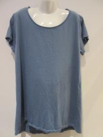 Shirt blauw basic