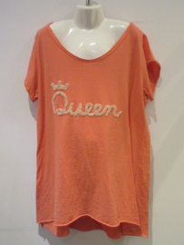 Shirt koraal Queen