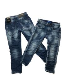 Jeans bleu Boom Kids met scheurtjes