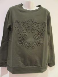 Sweater groen tijger