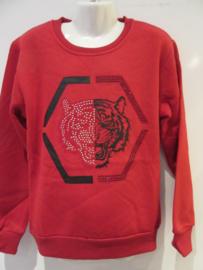 Sweater rood tijger