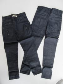 Gecoate broek blauw stretch