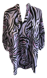 Blouse lila zebra print