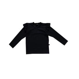 Ruffle Shirt Zwart