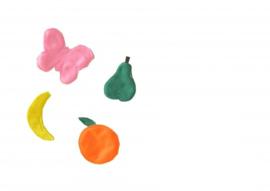 Setje fruit en vlinder