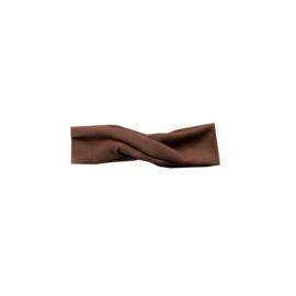 Wrapped headband rib choco