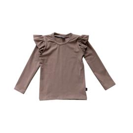 Ruffle Shirt Camel