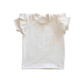 Ruffle Shirt Ecru
