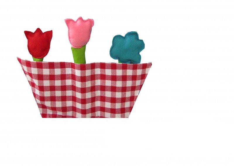 Bloembak inclusief 3 bloemen