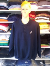 Polo-sweater: donker blauw