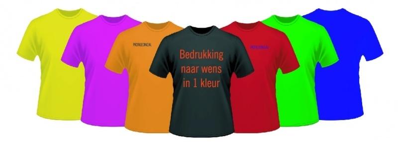 T-shirt met tekst naar uw wensen.