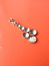 EXCLUSIEF - Zilveren handgemaakte hanger met echte pareltjes