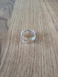 EXCLUSIEF - Zilveren moderne ring