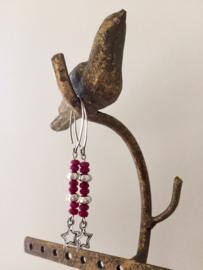 SALE - EXCLUSIEF - Echt zilveren lange oorbellen met jade