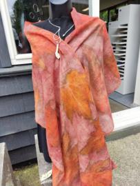 Eco-print sjaal maken zondag 10 oktober 2021