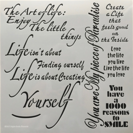 The art of life Stencil 30x30 cm