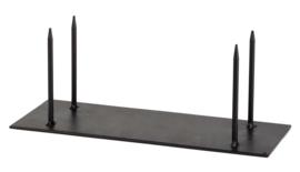 Standaard metaal 35 x 13cm pin  4x  13cm zwart