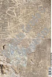 Laserprint A3 Handwriting in stones